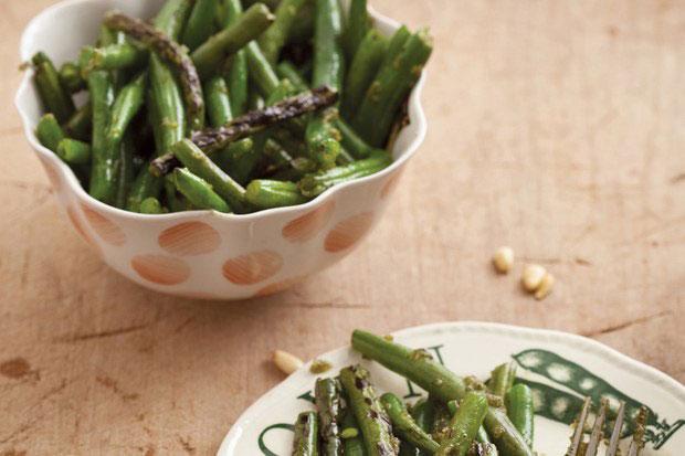 Charred Green Beans With Lemon Verbena Pesto – INFINITE HERBS